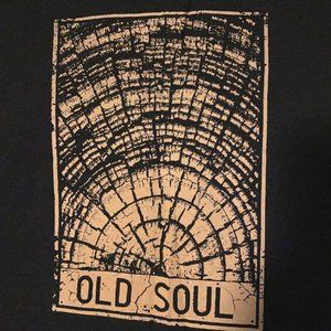 Tops - OLD SOUL Tree Ring Nature Wood Tee Shirt